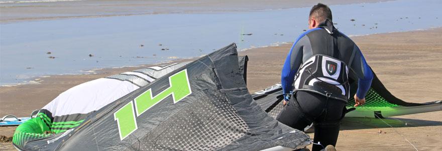 équipement de kitesurf